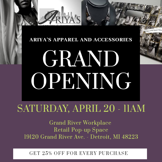 Ariya's Apparel and Accessories Grand Opening!!